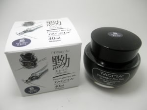 Taccia Aoguro Blue/Black Fountain Pen Ink - Bertram's Inkwell